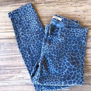 Rich & skinny giraffe printed skinny jeans